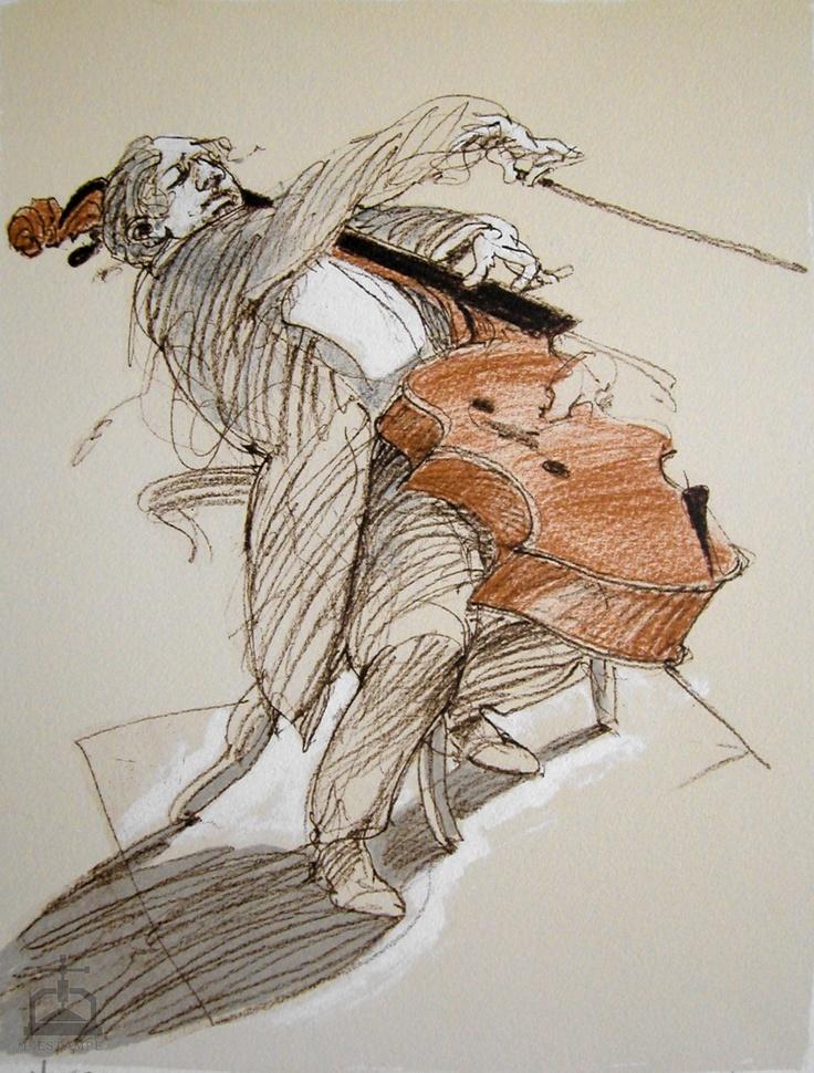 CANTABILE I lithographie originale de Claude WEISBUCH