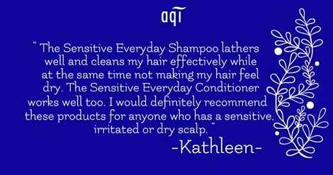 Our Sensitive Everyday Shampoo and Sensitive Everyday Conditioner gently soothes and calms the scalp whilst leaving hair soft, shiny and healthy.   But don't take our word for it, Kathleen highly recommends it too!  Available for purchase here goo.gl/xzauVL