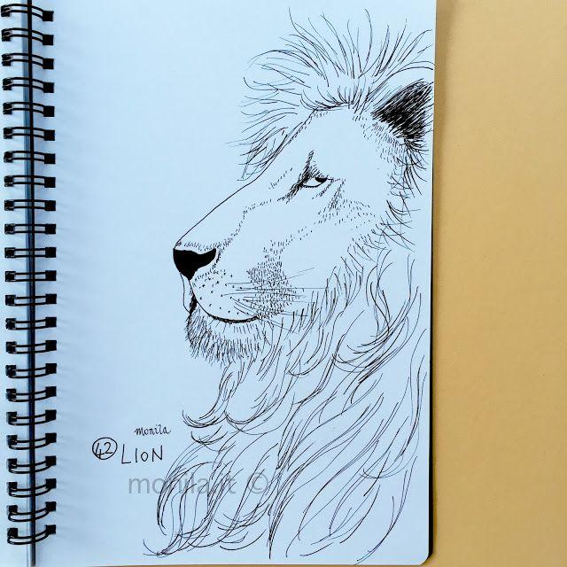Monila handmade,i ghirigori di monila,illustrazione,illustration,Lion ,leone