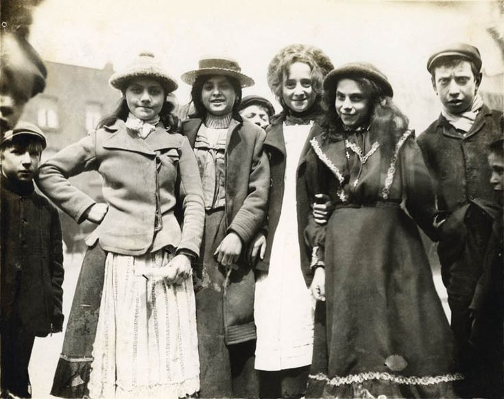 Youths in Mile End Road, 1902