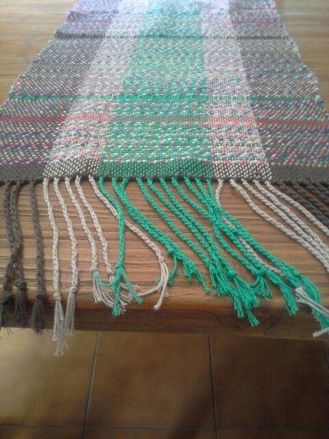 Camino de mesa en telar Maria  de algodon