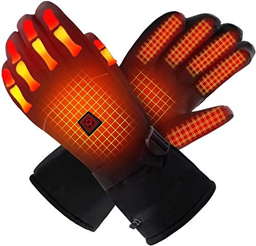 Best Seller Qilove Electric Heated Gloves Hand Warmer Rechargeable Batteries Winter Extra Warm Heat Touchscreen Noveltygloves Kit Hiking Motorcycling Skiing Co Hand Warmers Heated Gloves Gloves