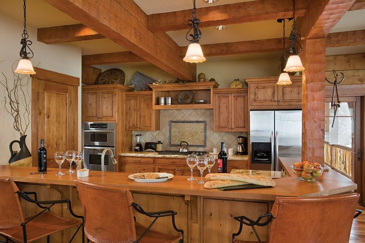 Decor ideas for inside log cabin home: Kitchens Design, Logs Cabin Homes, Cabin Kitchens, Interiors Design, Decoration Idea, Homes Kitchens, Logs Homes, Kitchens Idea, Dream Kitchens