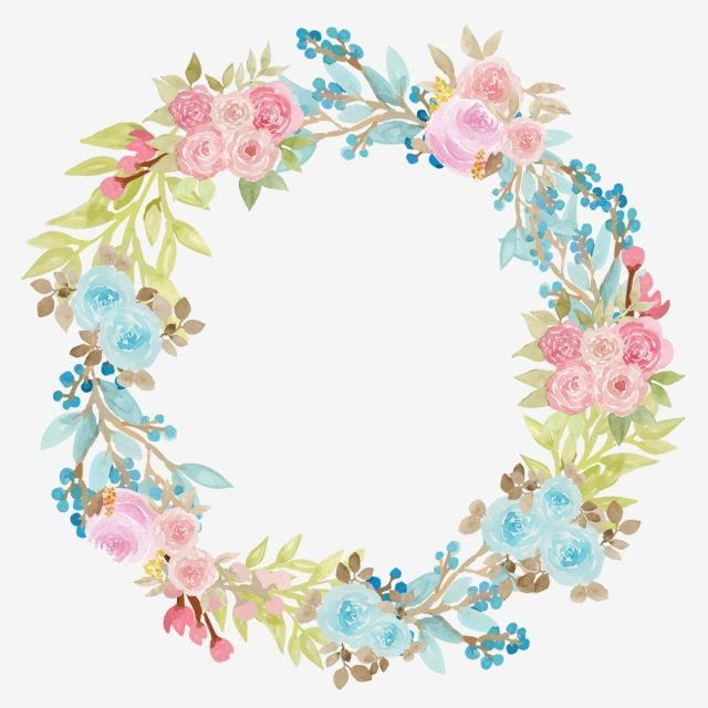 Beautiful Floral Frame Floral Png Watercolor Png And Vector With Transparent Background For Free Download Floral Border Design Floral Flower Backgrounds