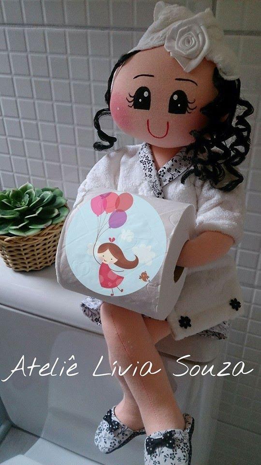Bonecas porta papel higiênico www.facebook.com/AtelieLiviaSouza