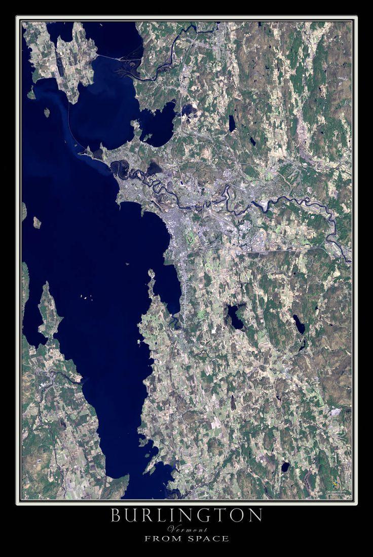 Earths Map%0A Burlington Vermont Satellite Poster Map