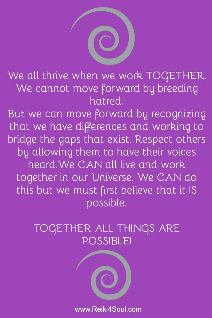 We can all thrive when we work #together. We cannot move forward by breeding hatred... But we can move forward by recognizing that we have differeneces an working to bridge the gaps that exist...Respect others by allowing them to have their voices heard. We CAN all live together in our #universe. We must first believe that it IS #possible. Together all things are possible! #together #election2016