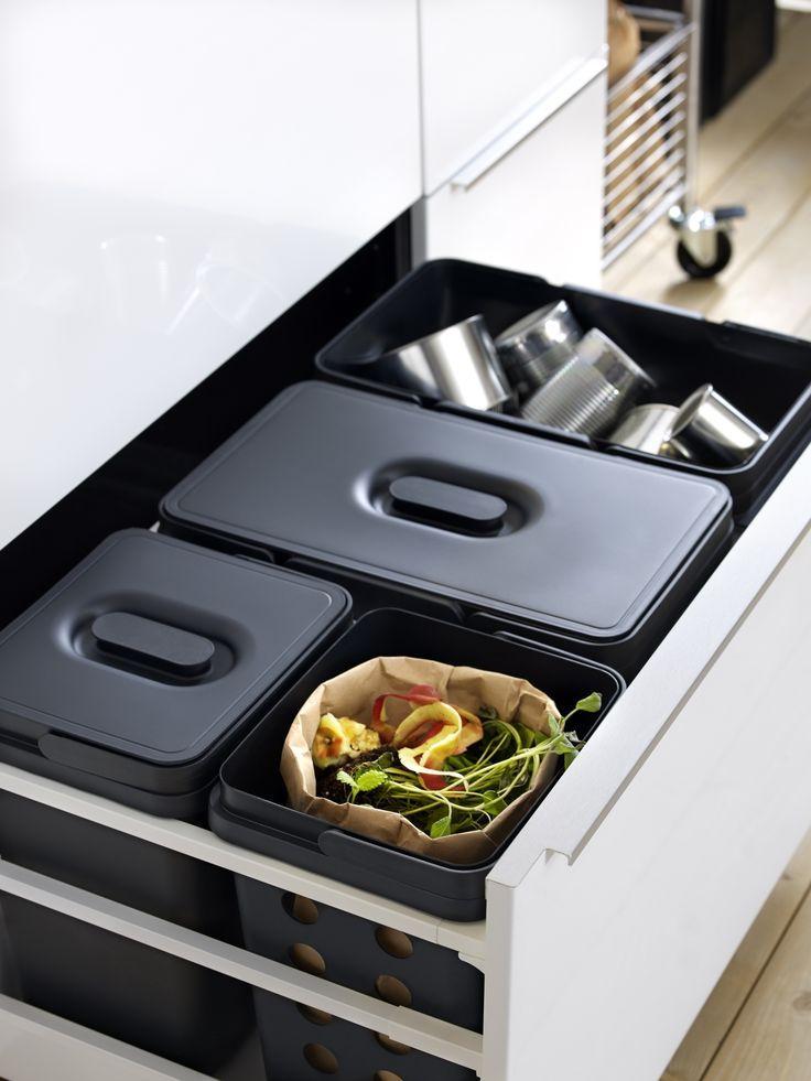 VARIERA/UTRUSTA afvalscheiding voor kast | #IKEAcatalogus #nieuw #2017 #IKEA #IKEAnl #eten #duurzaam #afval #scheiden #keuken
