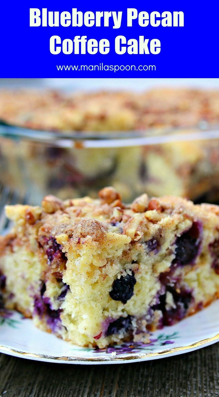 Sour cream coffee cake the frugal chef - With Juicy Blueberries For Extra Sweetness And Pecans For Added Crunch And Flavor This Is Our