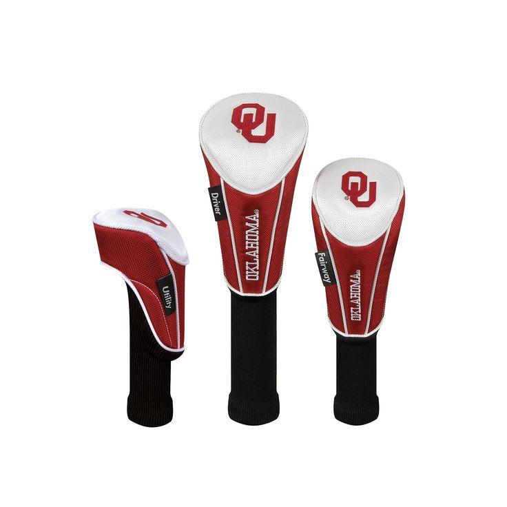 Team Effort Oklahoma Sooners 3-pc. Head Cover Set, Multicolor