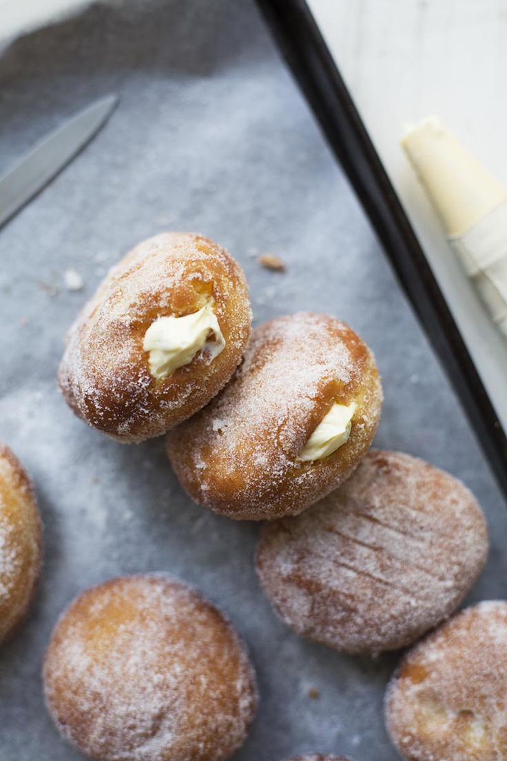 Passionfruit Cheesecake Malasadas // The Sugar Hit