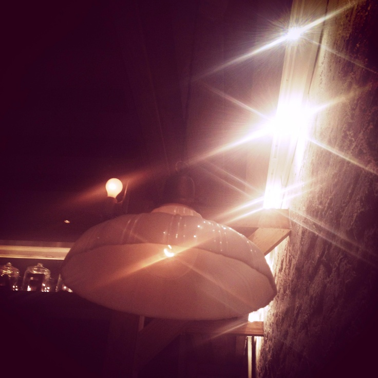 Porcelain light from Rabbits Cafe, NYC