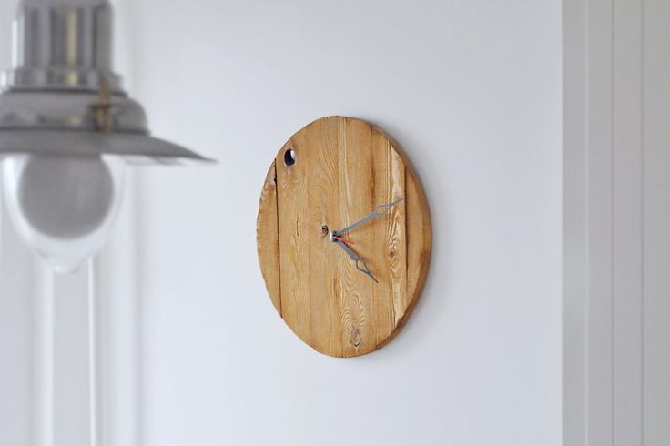 Clock made of wood by PieceOfWoodFromRus on Etsy