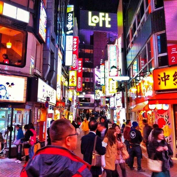 #japanese #people #downtown #shibuya #tokyo #night #cityscene #street #art_of_a_moment #squareimage #signboard | Flickr - Photo Sharing!