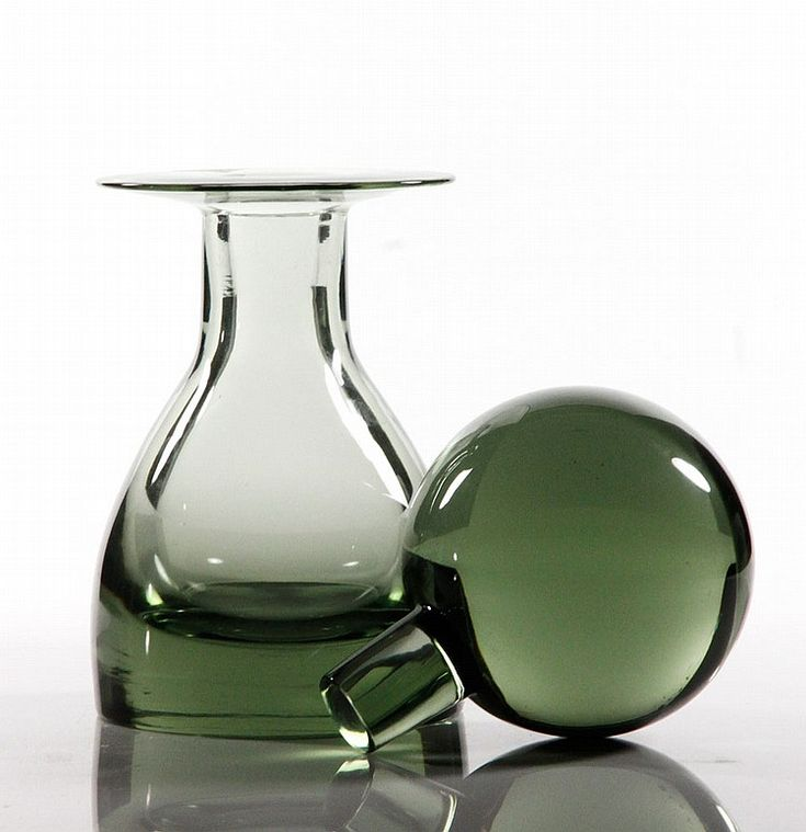 """20th century, Swedish/Scandinavian decanter with large stopper, 14 3/4""""h x 6""""w"""