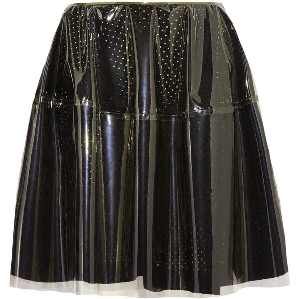Simone Rocha PVC and broderie anglaise cotton skirt ($430) ❤ liked on Polyvore featuring skirts, bottoms, saia, simone rocha, black, below the knee skirts, sheer skirt, simone rocha skirt and see-through skirts