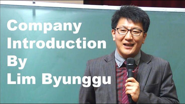 Company Introduction By Lim Byunggu in Atomy Success Academy