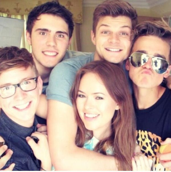 Tyler Oakley, Alfie Deyes, Jim Chapman, Joe Sugg, and Tanya Burr