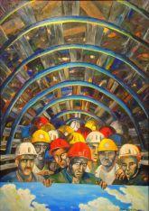 Madenciler,70X100cm,Tuval üzerine yağlıboya