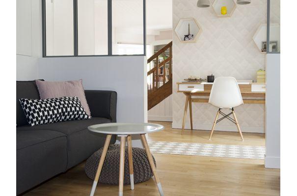 D coration coin bureau et espace t l vision scandinave for Decoration scandinave