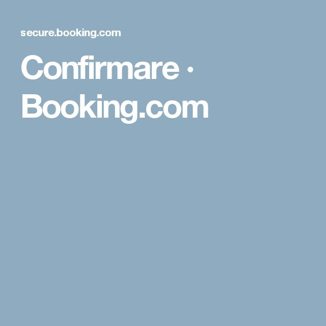 Confirmare · Booking.com