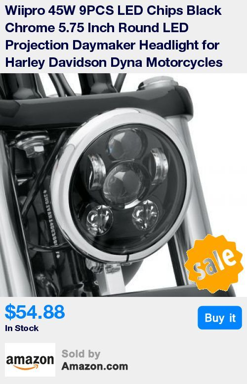 """Designed to fit on Harley Davidson Motorcycles with 5.75"""" headlamp. Provides extra lighting you need while updating and modernizing your motorcycle * Voltage:DC 12-30V,6000K color temperature,waterproof ip65,shockproof,dustproof,more than 50000 hours life-span * 9 PCS*5W Osram LED,chrome backplate,durable projector lens encased in aluminum housing,high &low beam for motorcycle headlight assembly option. * Super bright light pattern over standard incandescent lamps,cut through the night. * Fi"""