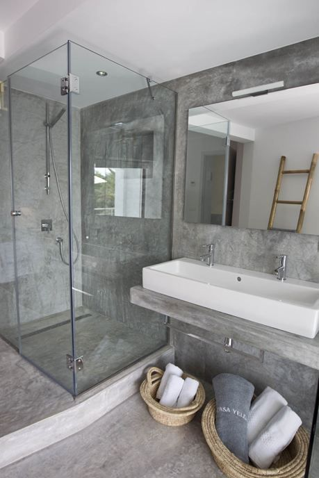 Polished concrete for the bathroom.... Maybe!