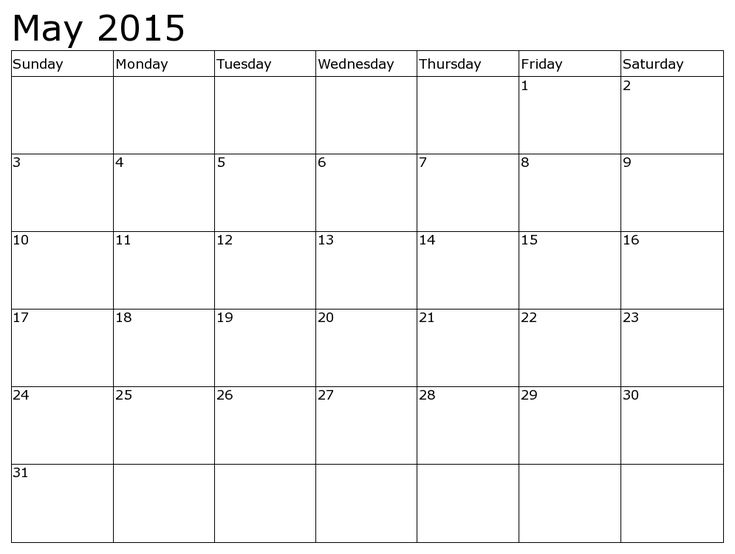 Get Latest May 2015 Calendar Printable Pdf, Template, Excel, Doc - calendar template pdf