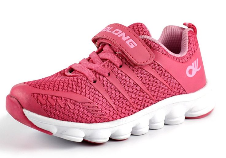 iDuoDuo Kids Breathable Mesh Outdoor Hook-and-Loop Sports Running Shoes Pink 2 M US Little Kid. Easy to pull on or off and adjust an optimal fit for kids with velcro straps closure. Featuring mesh fabric material with leather stripes decoration sides, breathable and fashion. Anti-collision toe and back design, and wearproof top line, protect kids' feet. Soft midsole and natural rubber sole, anti-slip, cushioning and shock absorption. Durable and comfortable, provide kids better feelings.