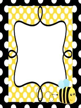 This darling bee poster is editable. You must have powerpoint to open and edit. It can be used for I can chartsclassroom rulesK-W-L chartsp...