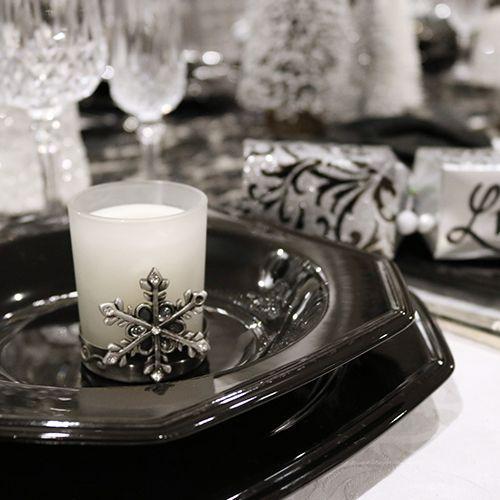 Pewter Snowflake Tea Light Candle