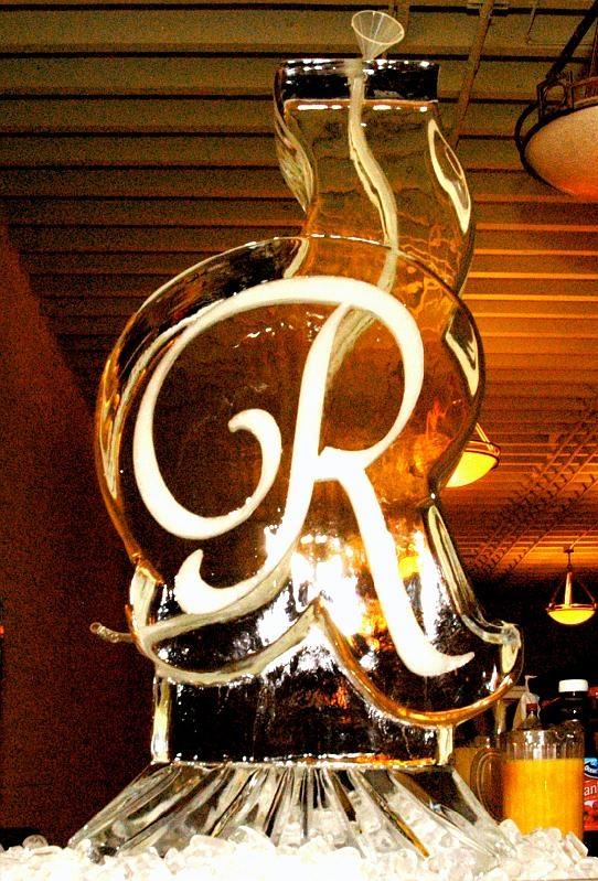 Monogrammed Ice Sculpture.  by Masterpiece Ice Sculptures.