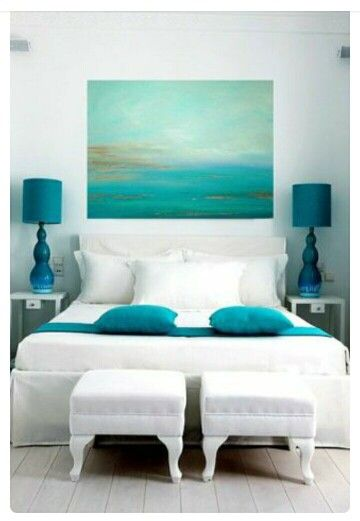 #bed #bedroom #room #blue