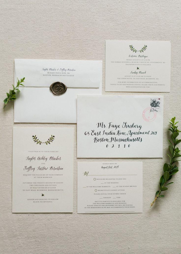 Elegant calligraphy wedding invitation suite: Photography: Shannen Natasha - http://shannennatasha.com/