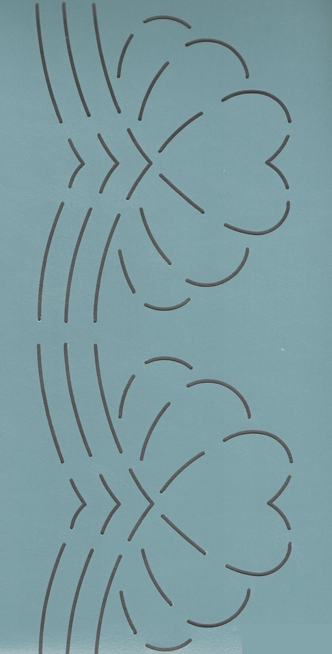 """Amish Feather Hearts 4.5"""" - The Stencil Company"""