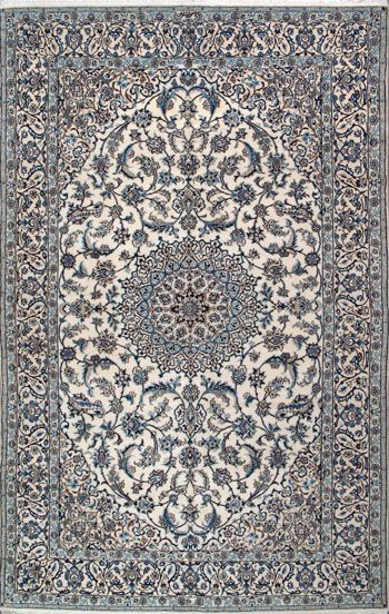 "Nain Persian Rug, Buy Handmade Nain Persian Rug 6' 7"" x 9' 10"", Authentic…"