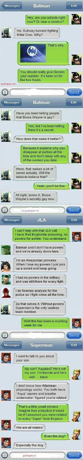 Top 4 Hilarious Text Messages About Batmam vs. Sup...