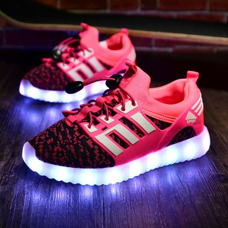 Boys or Girls Led Light Up Shoes. Re-chargeable.