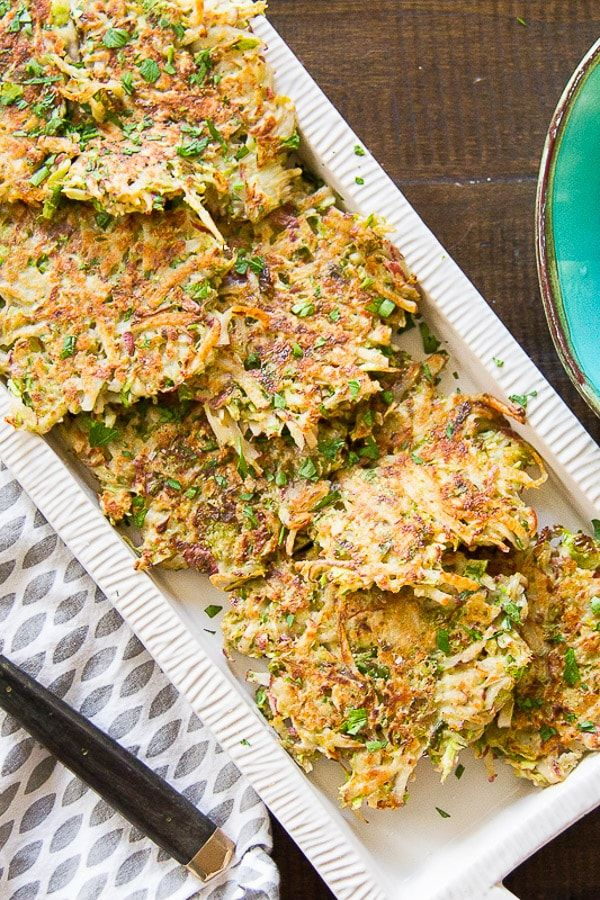 Love recipes that can work as an appetizer, breakfast, or a side dish and be healthy at the same time? I sure do!Brussels Sprouts & Potato Pancakes