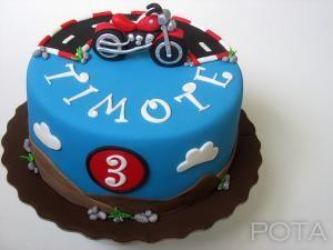 """Gâteau """"Moto"""" -"""