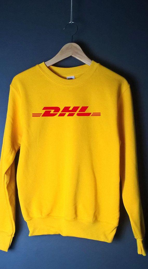 DHL SWEATER jumper sweatshirt hoodie hoody unisex fashion grunge 90s