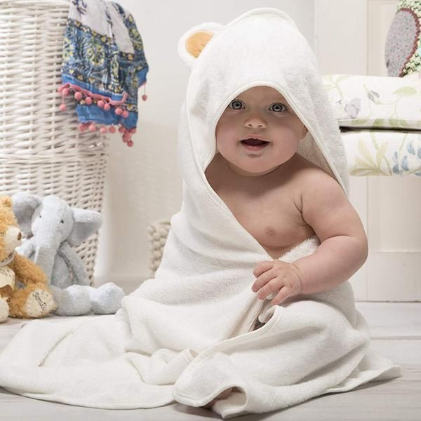 Ultra Soft Plush And Absorbent Our Baby Bath Twoels With Ears Is 2x Thicker 420 Gsm And 3x More Absorbent Than Most B Baby Bath Towel Baby Towel Baby Bath