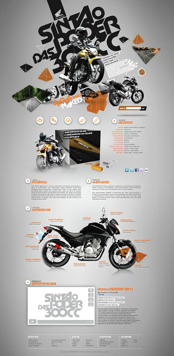 Honda CB300R by Daniel Cassa Ciccarelli, via Behance | #webdesign #it #web #design #layout #userinterface #website #webdesign <<< repinned by an #advertising #agency from #Hamburg / #Germany - www.BlickeDeeler.de | Follow us on www.facebook.com/BlickeDeeler