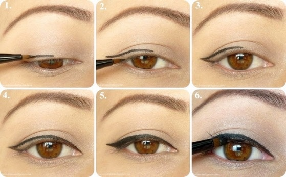 como delinear el ojo estilo gato 1 o cat eye 1