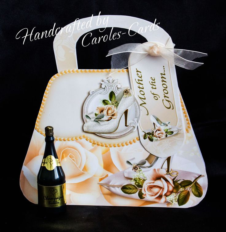 'WEDDING HANDBAG MOTHER OF THE GROOM' - Handbag Shaped Card available to purchase on my website. Handbag Style Personalised Cards - for all occasions. Click on the image to see more!