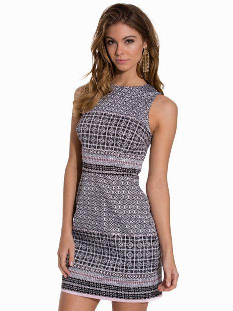 Tile Print Sleeveless Dress