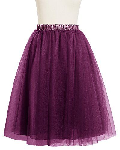 Bridesmay Women Short Tulle Formal Skirt Prom Party