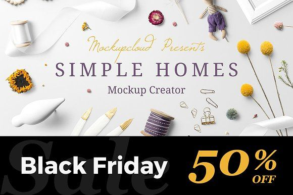 Simple Homes Mockup Creator  @creativework247