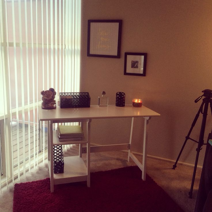 My Office Space In My First Apartment Small Apartment Living Office Decor Home Sweet Home