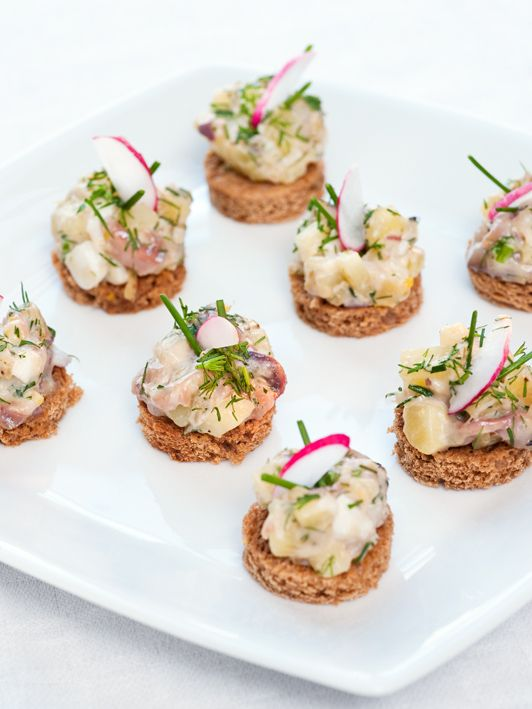 Matjes herring salad